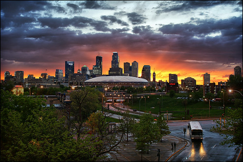 minneapolis, mn minnesota downtown sunset | by Dan Anderson.
