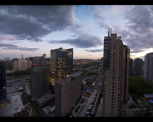 china sunset phoenix cityscape beijing