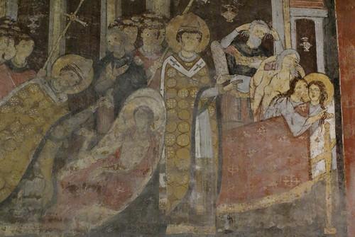 Rom, San Clemente, Unterkirche, Fresko des 11. Jh., Legende des hl. Alexius (underground church, 11th century fresco, legend of St. Alexius)