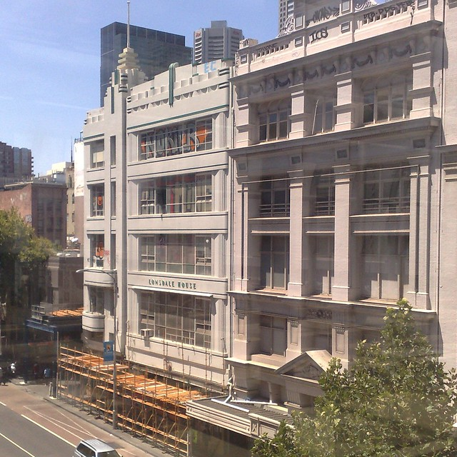 Lonsdale House, shortly before demolition