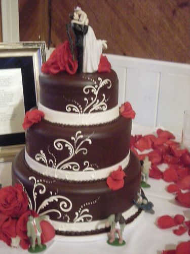 Chocolate Ganache wedding cake (503) | by Asweetdesign
