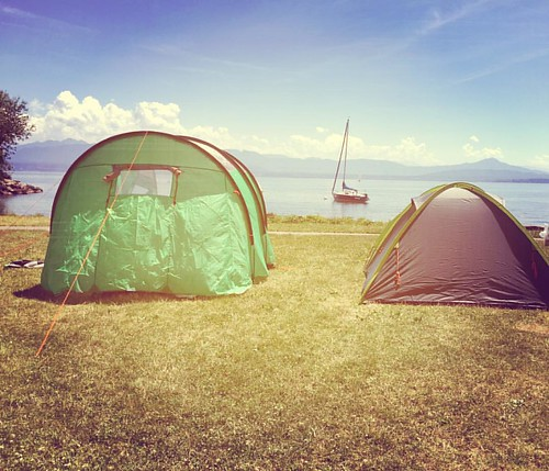 #lovellcamps overnight spot for tonight - beautiful! #summercamp #rolle #lakegeneva