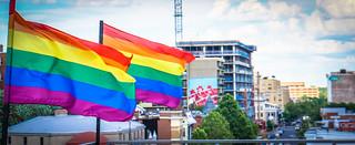 2017.07.02 Rainbow and US Flags Flying Washington, DC USA 6852 | by tedeytan