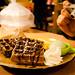 dessert: green tea waffle