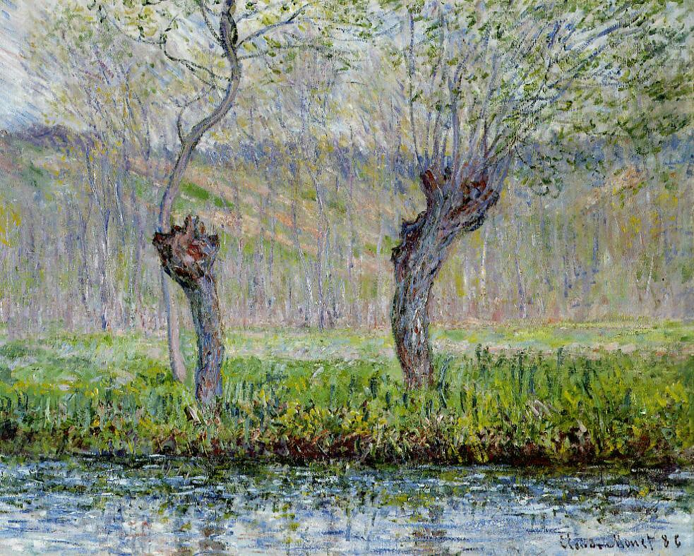 W 981 - Claude Monet: Willows in Springtime (1885) | Flickr