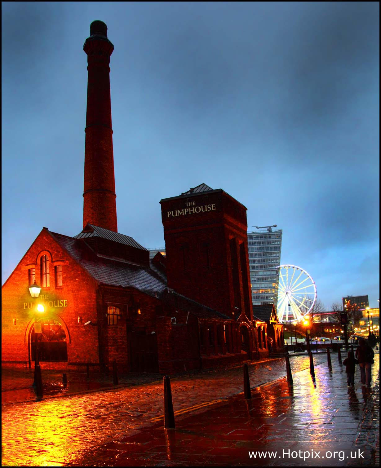 Liverpool,Albert,Dock,Dockside,UK,beatles,city,mersey,merseyside,river,pump,house,pumphouse,wet,rain,dusk,night,low,light,shot,hotpix,hotpixuk,tonysmith,tony,smith,blue,sky,warm,cobbles,stones,cobble,tate,gallery,maritime,museum,this photo rocks,HDR,high dynamic range,town,building,buildings,built,architecture,noche,nuit,sex,sexy