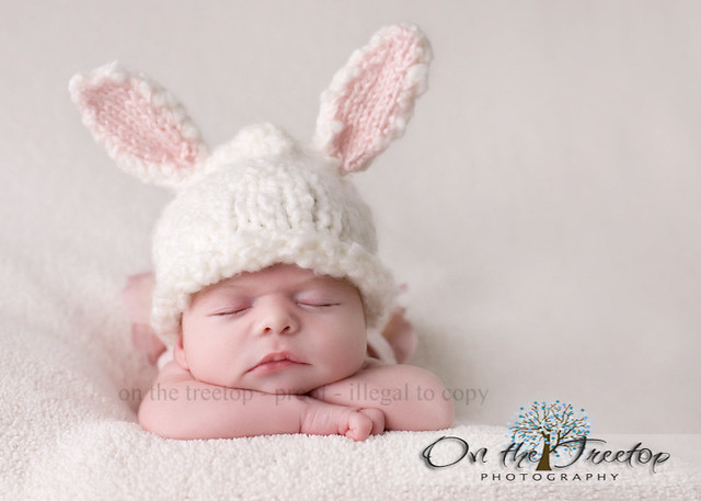 8e326a67d Custom Made Easter Bunny Hat with Adorable White and Pink … | Flickr