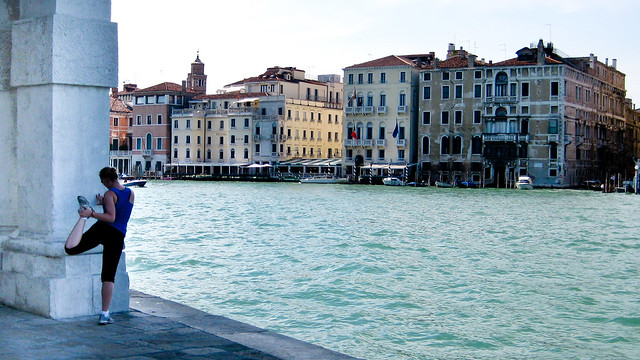 Stretching by the Grand Canal