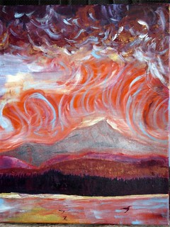painting of Camel's Hump | by Kathryn Cramer