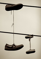 Photograph: Shoes on a wire 4