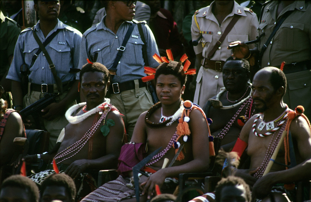 Image result for King Mswati III coronation pictures