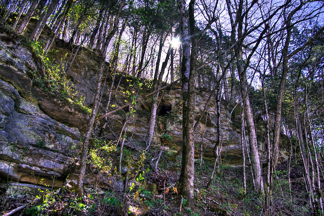 Karst feature, Overton Co, TN