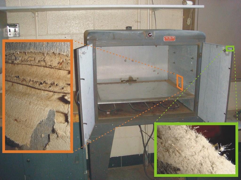 Small Industrial Oven & Asbestos Insulation Details | Flickr