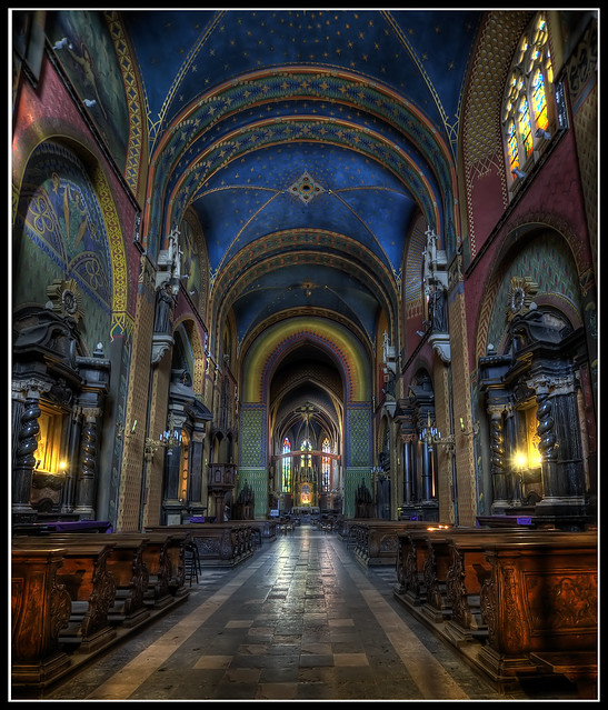 Basilica of St Francis in Krakow, Poland