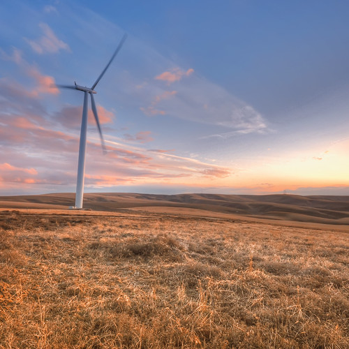 sunset sky clouds washington nw power desert wind wa eastern turbine hdr turbines kennewick electic nikond90