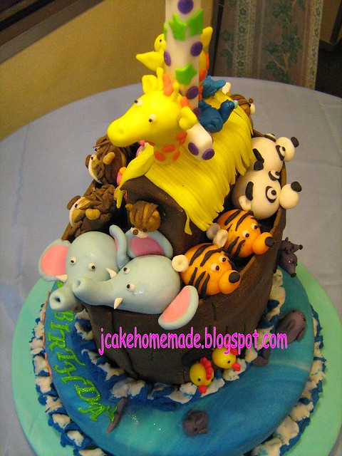 Noah's Ark birthday cake