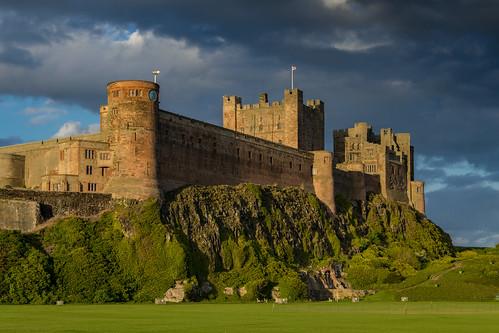 uk england castle northumberland gb schloss bamburgh burg grosbritannienundnordirland