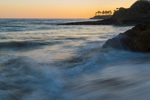 ocean california longexposure sunset sky beach silhouette geotagged evening sand nikon rocks waves unitedstates wave palmtrees pacificocean palmtree lagunabeach nikond5300