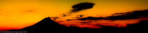 Warm sunset.