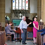 Accompanying soprano Roma Loukes and bass baritone Huw Morgan