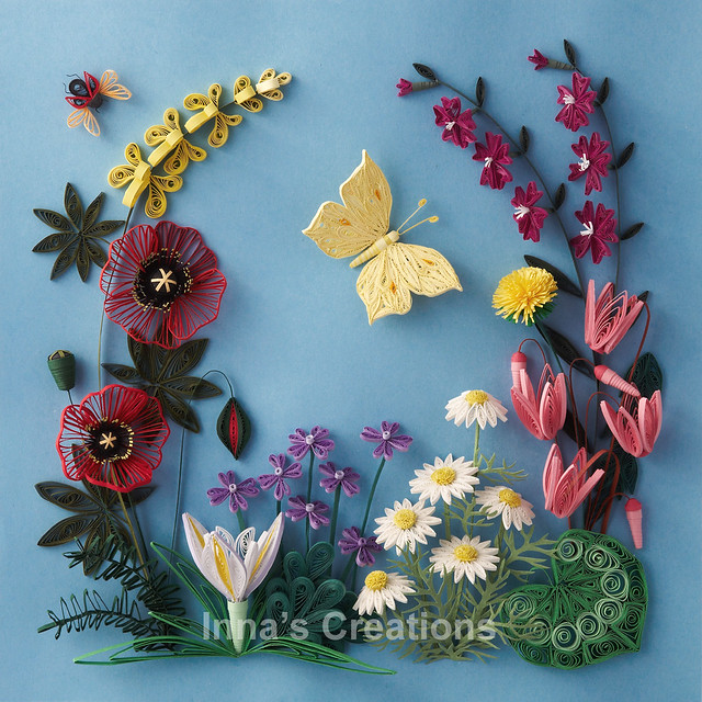 Paper quilling: Flowers of Israel