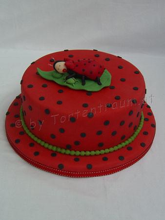 Marienkäfer Baby Torte