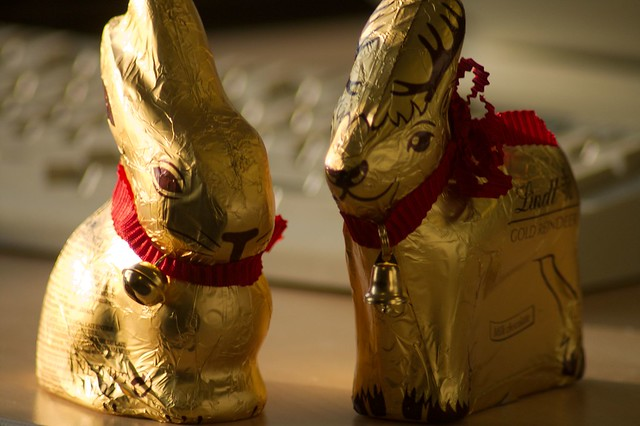 imgp0467 - Christmas Reindeer and Easter Bunny, Together At Last!