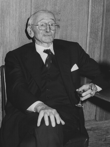 Friedrich August von Hayek, 27th January 1981, the 50th Anniversary of his first lecture at LSE, 1981. Credit: LSE Library
