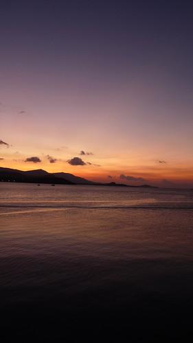 Koh Samui Sunset @ Bangak pier- コサムイ 夕焼け3