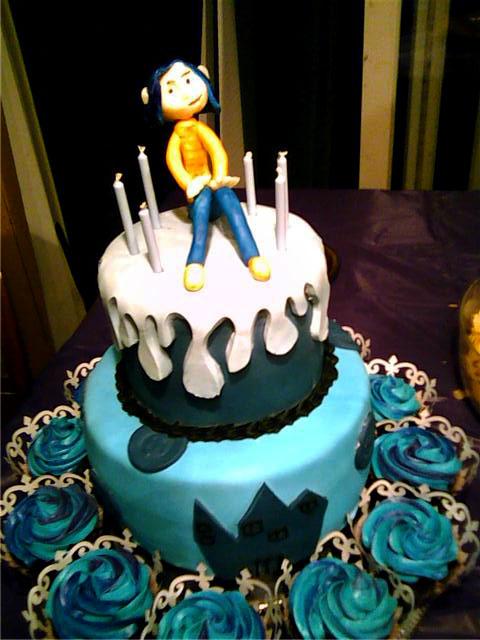Astonishing Coraline Cake A Coraline Cake For Nikkis Birthday The Ca Flickr Funny Birthday Cards Online Inifodamsfinfo