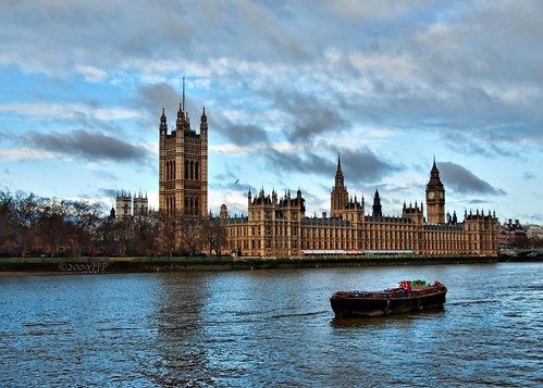 Barge and houses of parliment | by Singing With Light