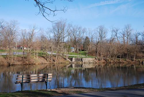 park lake water bench geotagged pond indiana richmond waynecounty waynecountyindiana glenmillerpark geo:lat=39836684 geo:lon=84867537