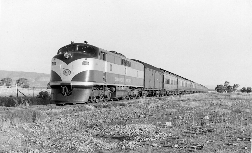 cme135 - GM1 locomotive hauling passenger train at 29 Miles on straight by Chris