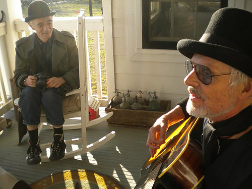 BP Fallon & Michael Des Barres on the porch, by Britta Morgan Hayertz | by bp fallon