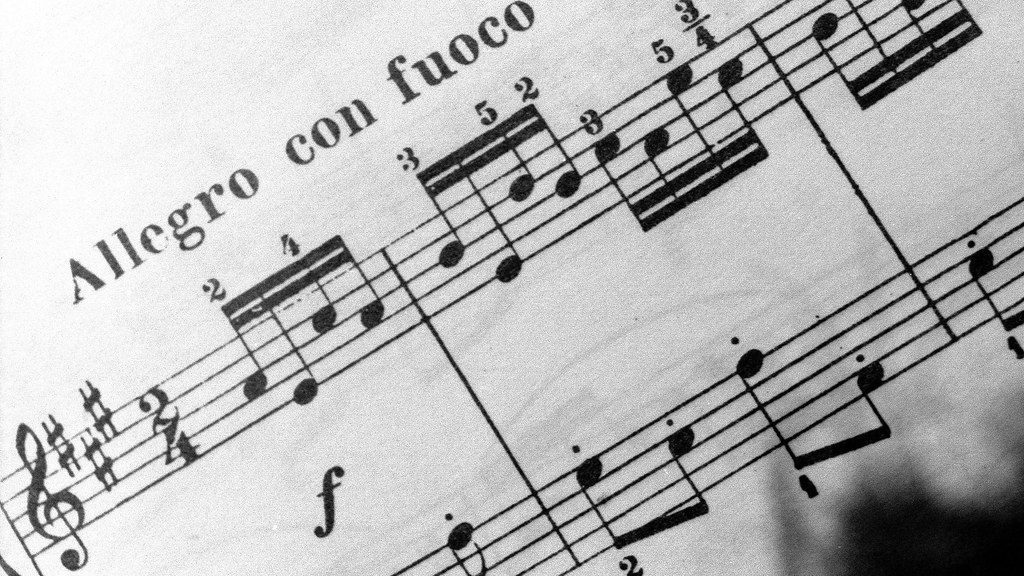 Allegro con fuoco | The tempo of a piece will typically be w