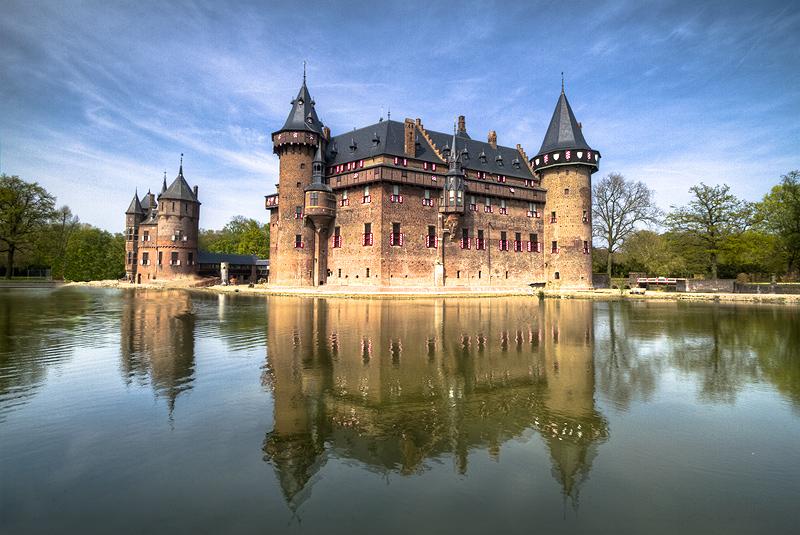 Castle De Haar in The Netherlands (Front View)