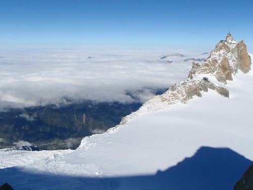 Mon, 2010-10-18 12:51 - Shot from Chèré Couloir, Mont Blanc du Tacul.