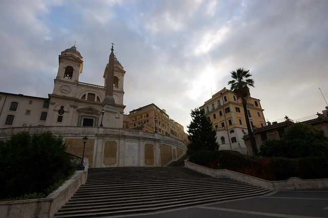 Early morning Spanish Steps