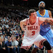 Omer Asik gets into position over Melvin Ely