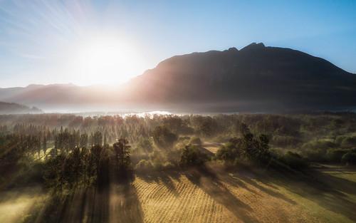 northbend washington unitedstates us sunrise landscape nature mountains sun shadows fog pacificnorthwest djimavicpro drone aerial dronephotography johnwestrock