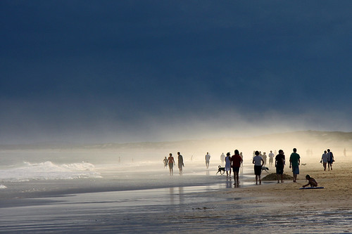 Beach, mist and impending storm | by Tim J Keegan