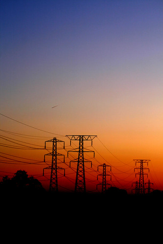 sunset silhouette cheshire pylon crewe leighton