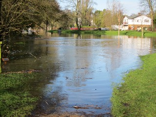 Wey-South Path under water | by rootebeete