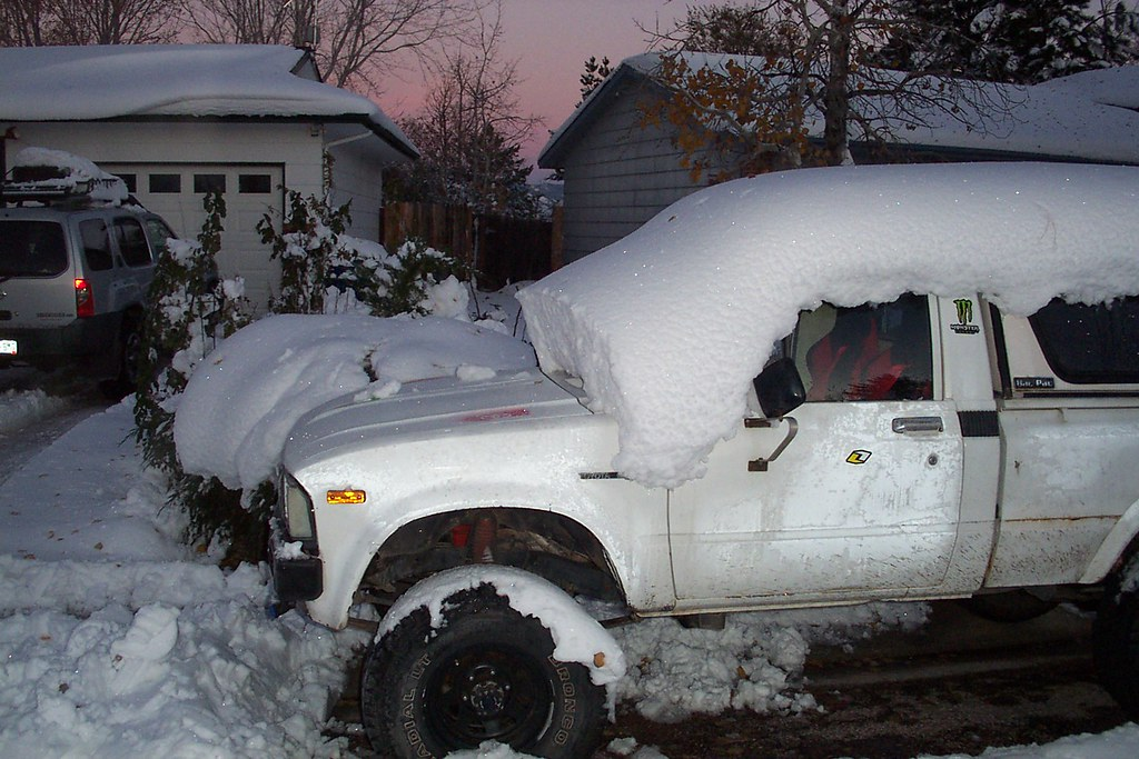 SNOW COVERED TOYOTA