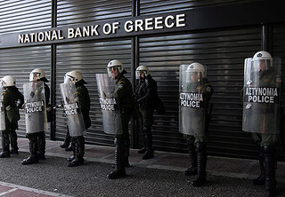 WORKERS TAKE TO GREEK STREETS AGAINST CUTBACKS | by http://underclassrising.net/