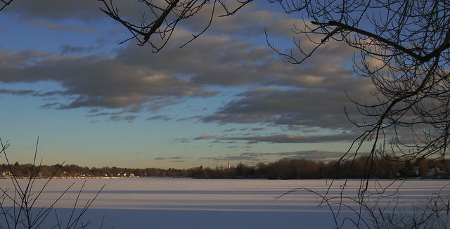 Sunset at Lake Quannapowitt.  Wakefield, MA (2010)