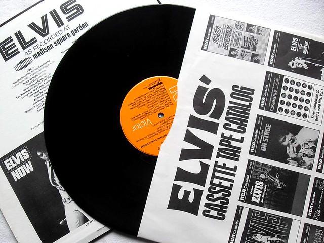 1972 ELVIS PRESLEY record Interior Sleeve