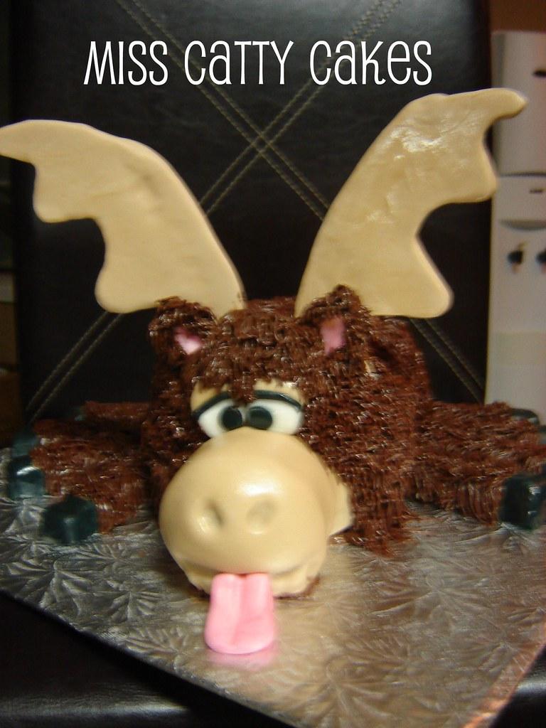Excellent Dads Eight Legged Moose Birthday Cake Its An Inside Joke Flickr Funny Birthday Cards Online Inifodamsfinfo