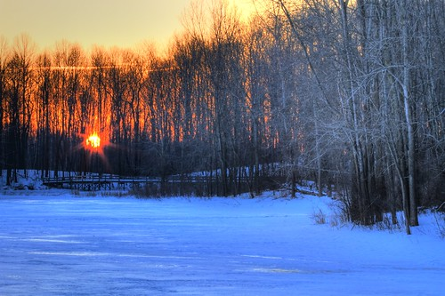 winter snow color ice sunrise canon scott michigan reflect hdr wintersunrise smithson detroitmetro maybury michiganstatepark mayburystatepark mayburypond dtwpuck scottsmithson scottelliottsmithson