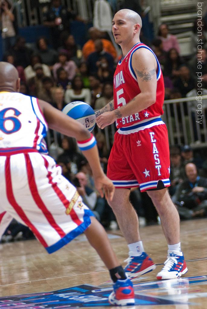 Pitbull   2010 NBA All-Star Celebrity Game   Brandon Stahnke